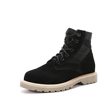 للرجال أحذية فرو ظبي شتاء خريف جزمات موضة جزم القتالية كتب إلى الأماكن المفتوحة أسود