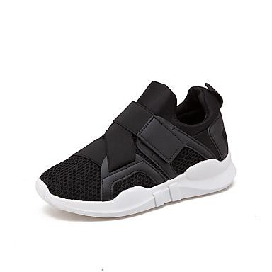 Damen Schuhe Atmungsaktive Mesh Sommer Herbst Komfort Sportschuhe Walking Flacher Absatz Runde Zehe Schnürsenkel Für Normal Weiß Schwarz