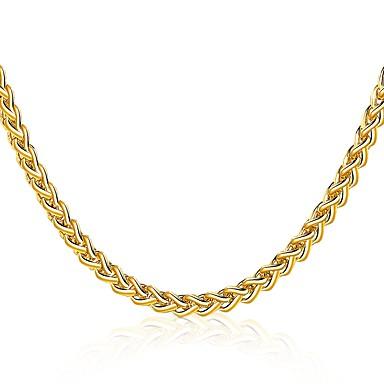 Férfi Női Mértani Rövid nyakláncok - Arannyal bevont Nyilatkozat, Luxus, Természet, Gótikus Arany Nyakláncok Ékszerek Kompatibilitás Karácsony, Hétköznapi, Előírásos