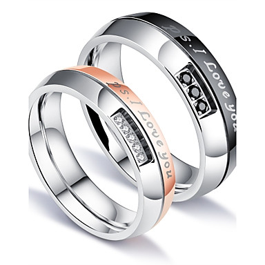 Men's AAA Cubic Zirconia Band Ring - Luxury, Classic, Love 5 / 6 / 7 White For Party / Birthday / Gift