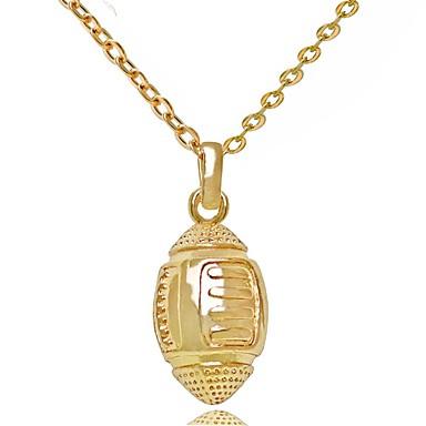Férfi / Női Luxus Nyaklánc medálok - Személyre szabott / Luxus / Vintage Geometric Shape Arany / Ezüst Nyakláncok Kompatibilitás Esküvő