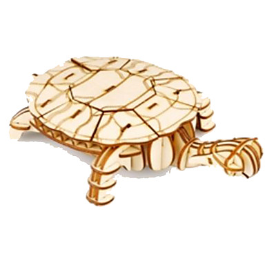 voordelige 3D-puzzels-3D-puzzels Legpuzzel Houten modellen Dieren DHZ Puinen Natuurlijk Hout Kinderen Unisex Speeltjes Geschenk
