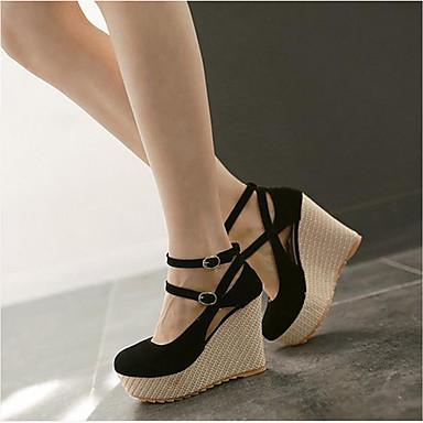 Damen Schuhe PU Frühling Herbst Komfort High Heels Für Normal Schwarz Beige Leicht Rosa