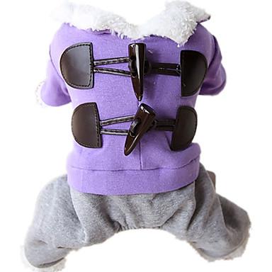 Hund Overall Hundekleidung Solide Dunkelblau / Purpur / Rosa Baumwolle Kostüm Für Haustiere Lässig / Alltäglich / warm halten