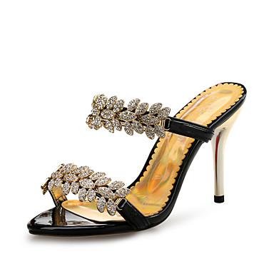 Mujer Sandalias Confort Zapatos del club Primavera Verano Otoño Cuero Patentado Paseo Boda Vestido Fiesta y Noche Hebilla Tacón Stiletto TBxTqzj7GC