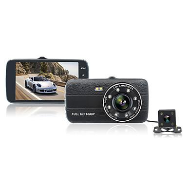 abordables DVR de Voiture-ziqiao jl-h17 4.0 pouce tft ips écran voiture enregistreur DVR 1080p / Full HD tableau de bord cam double objectif 170 degrés de vision nocturne voiture caméra DVR