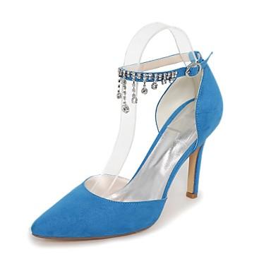 Escarpin pointu Eté Basique Talons Printemps Bleu Flocage Talon à Vert Amande Chaussures Aiguille Bout Femme Chaîne Chaussures 06177690 xqwFSI7Bq