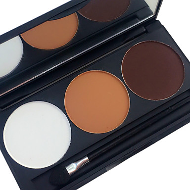 3 Colors Makeup Set Pressed powder Blush Dry / Matte / Combination Whitening / Wrinkle Reduction / Concealer Men / Women / Daily Ammonia Free / Formaldehyde Free Makeup Cosmetic
