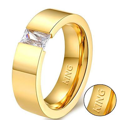 Személyre szabott ajándékot Gyűrűk Strassz Titanium Acél Páros Egyszerű Geometrijski oblici Természet által inspirált pár cipő Divat