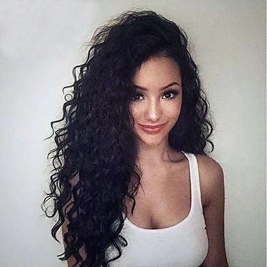 Szűz haj Csipke korona, szőtt / Csipke Paróka Göndör Paróka 130% / 150% / 180% Természetes hajszálvonal / Afro-amerikai paróka Női Rövid / Hosszú Emberi hajból készült parókák