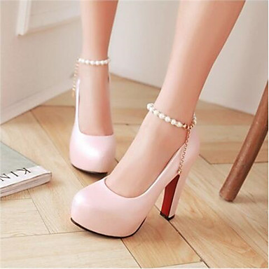 Damen Schuhe PU Frühling Sommer Komfort High Heels Für Normal Rosa