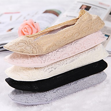 Invisible Socks Fashion Women Summer Cotton Lace Antiskid Calcetines Mujer Low Cut Socks Casual Breathable Soft Socks