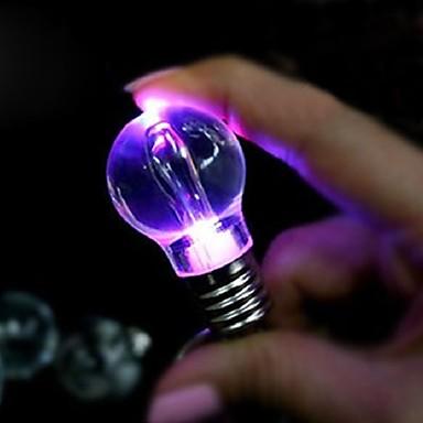 Creative Gift Light Lighting Bulb Night Colorful LED Flashlight Torch Keyring Keychain