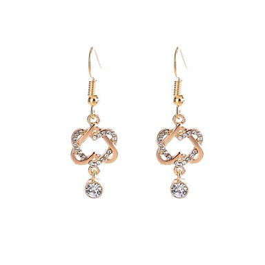 Női Szintetikus gyémánt Függők - Klasszikus / Divat Arany / Ezüst Geometric Shape Fülbevaló Kompatibilitás Parti / Ajándék / Napi