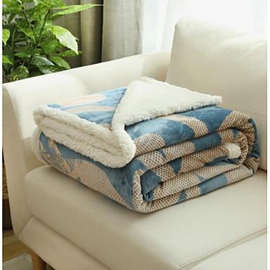 Flanell, Bedruckt Blumen Gemischte Polyester / Baumwolle Decken