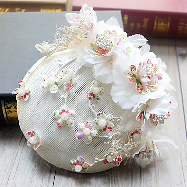 Tulle Chiffon Fabric Fascinators Hats Hair Clip With 1 Wedding Special Occasion Birthday Headpiece 06081472