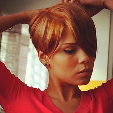 Emberi haj Egyenes Klasszikus Afro-amerikai paróka Jó minőség Géppel készített Paróka Napi