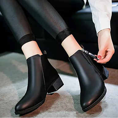 Damen Stiefel Modische Stiefel Komfort Echtes Leder PU Sommer Normal Schwarz Rot Flach