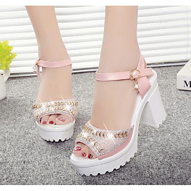 Damen Schuhe Echtes Leder PU Frühling Pumps High Heels Für Normal Weiß Rosa Hellblau