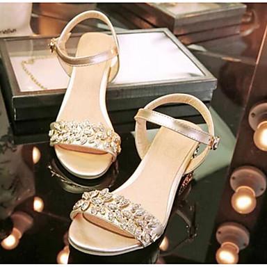 Damen Schuhe PU Sommer Komfort High Heels Für Normal Gold Silber