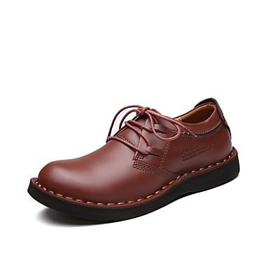 Férfi Formális cipők Bőr Ősz / Tél Kényelmes Félcipők Gyalogló Kávé / Sötétbarna