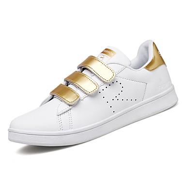 Herrn Schuhe Künstliche Mikrofaser Polyurethan Frühling Herbst Leuchtende Sohlen Komfort Sneakers Schnürsenkel für Normal Draussen Gold