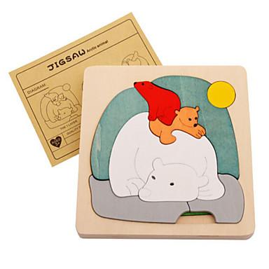 3D - Puzzle Holzpuzzle Bildungsspielsachen Tiere Holz Naturholz Zeichentrick Kinder Unisex Geschenk
