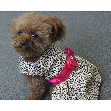 Dog Dress Dog Clothes Stripe Polyester Costume For Pets Women's Casual/Daily