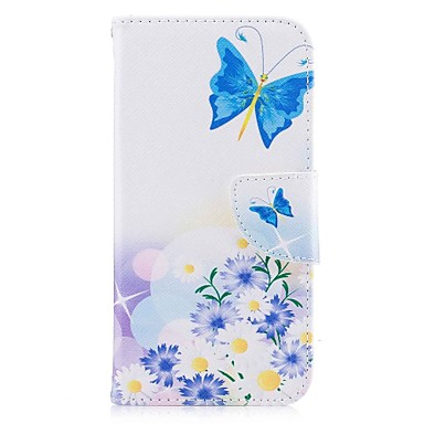 Case For Apple iPhone X / iPhone 8 Wallet / Card Holder / with Stand Pouch Bag Butterfly Hard PU Leather for iPhone X / iPhone 8 Plus / iPhone 8