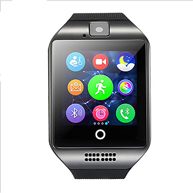 Relógio inteligente Q18S for Android Radio FM / Calorias Queimadas / Pedômetros Monitor de Sono / Relogio Despertador / Cronógrafo / 128MB / Câmera / GSM(850/900/1800/1900MHz) / Sensor de Dedo