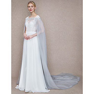 Chiffon / Lace Wedding / Party / Evening Women's Wrap With Lace Capes