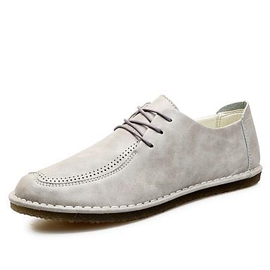 Férfi Kényelmes cipők Bőr Tavasz / Ősz Félcipők Fekete / Narancssárga / Szürke
