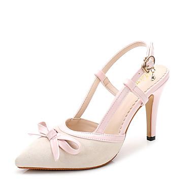 Sandales Noeud Chaussures synthétique Verni pointu Talon Bout microfibre Printemps de Aiguille Flocage Cuir Femme Automne 06242382 Confort PU 1pWqaaP