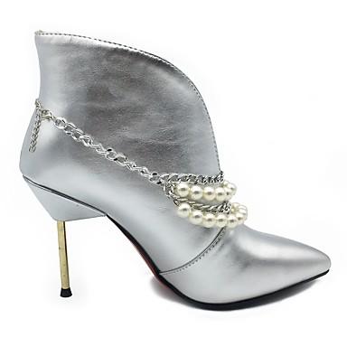 fluff la Botillons Chaussures Femme Similicuir Talon Mode 06194810 Bout Bottine à Doublure Aiguille Bottes pointu Hiver Automne Bottes 48UvxY8