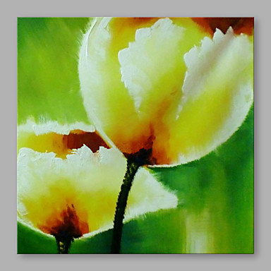 Oil Painting Hand Painted - Floral / Botanical Artistic Canvas / Stretched Canvas