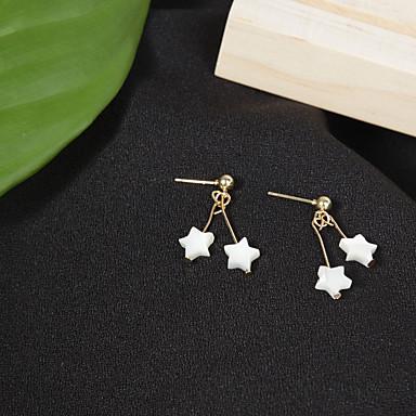 Női Zvijezda Beszúrós fülbevalók - Divat / minimalista stílusú Fehér Fülbevaló Kompatibilitás Napi