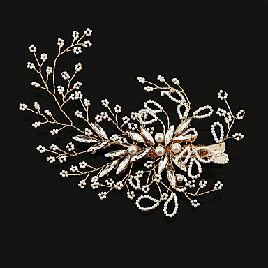 Imitation Pearl / Rhinestone / Alloy Flowers / Hair Clip / Hair Claws with 1 Wedding / Special Occasion / Birthday Headpiece