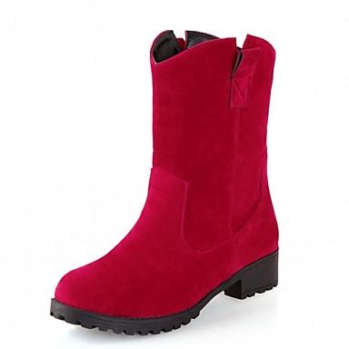 Mujer Zapatos Semicuero Otoño / Invierno Botas de Moda Botas Tacón Cuadrado Dedo redondo Botines / Hasta el Tobillo Hebilla Negro / Gris Pas Cher Bonne Vente Par Carte De Crédit En Ligne WRZG41ff
