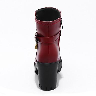 Botillons Plateau Bottes boîtes Bout Mode 06241758 Combat Hiver Talon de Chaussures Femme rond Bottes à Automne Bottier la Similicuir wAA8ZI