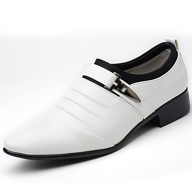 Men's Formal Shoes PU(Polyurethane) Spring / Fall Business Loafers & Slip-Ons White / Black / Brown