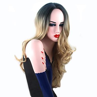Szintetikus parókák Hullámos haj Szintetikus haj Selyem alapú haj / Sötét hajtő / Természetes hajszálvonal Szőke Paróka Női Hosszú Jelmez
