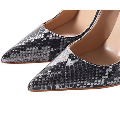Polyuréthane Preto 06222129 pointu e Chaussures à Talon Femme Automne Chaussures Prateado Talons Basique Aiguille Bout Escarpin Printemps Oq55ag