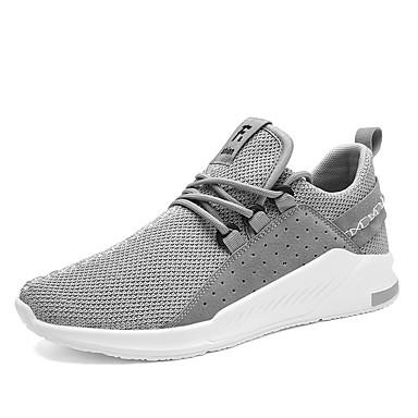Hombre Zapatos Punto / Tela Elástica Otoño Confort Zapatillas de Atletismo Running Negro y Oro / Negro / blanco / Negro / Rojo kMxCU