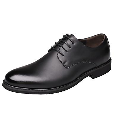 Férfi cipő Bőr Tél Ősz Formai cipő Kényelmes Félcipők Fűző mert Hétköznapi Hivatal és karrier Fekete Barna