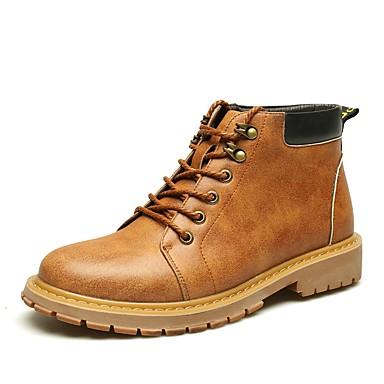 Férfi cipő Bőr Tél Ősz Formai cipő Katonai csizmák Félcipők Tépőzár mert Hétköznapi Work & Safety Hivatal és karrier Szabadtéri Szürke