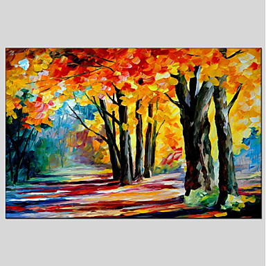 Oil Painting Hand Painted - Landscape Classic & Timeless Canvas
