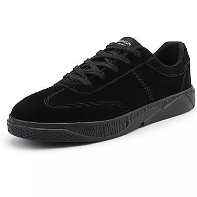 Herre sko Lerret PU Vår Høst Komfort Lette såler Treningssko til Avslappet utendørs Svart Mørkegrå Mørkebrun