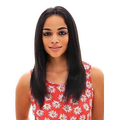 Remy haj Csipke eleje 360 Frontális Paróka Brazil haj Egyenes yaki Tincselve 150% 180% Sűrűség 100% kézi csomózású Természetes