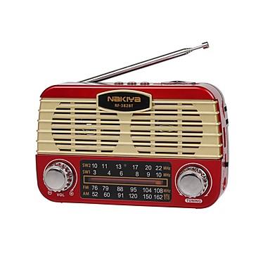 RF-382BT FM / AM Hordozható rádió MP3 lejátszó / Zseblámpa / Bluetooth SD-kártya Világvevõ Fekete / Szürke / Piros