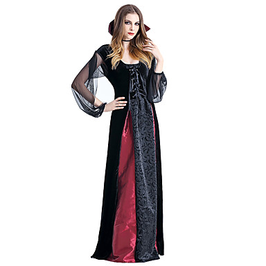 Vampire Cosplay Costume Party Costume Female Halloween Carnival Festival / Holiday Halloween Costumes Black/Red Vintage